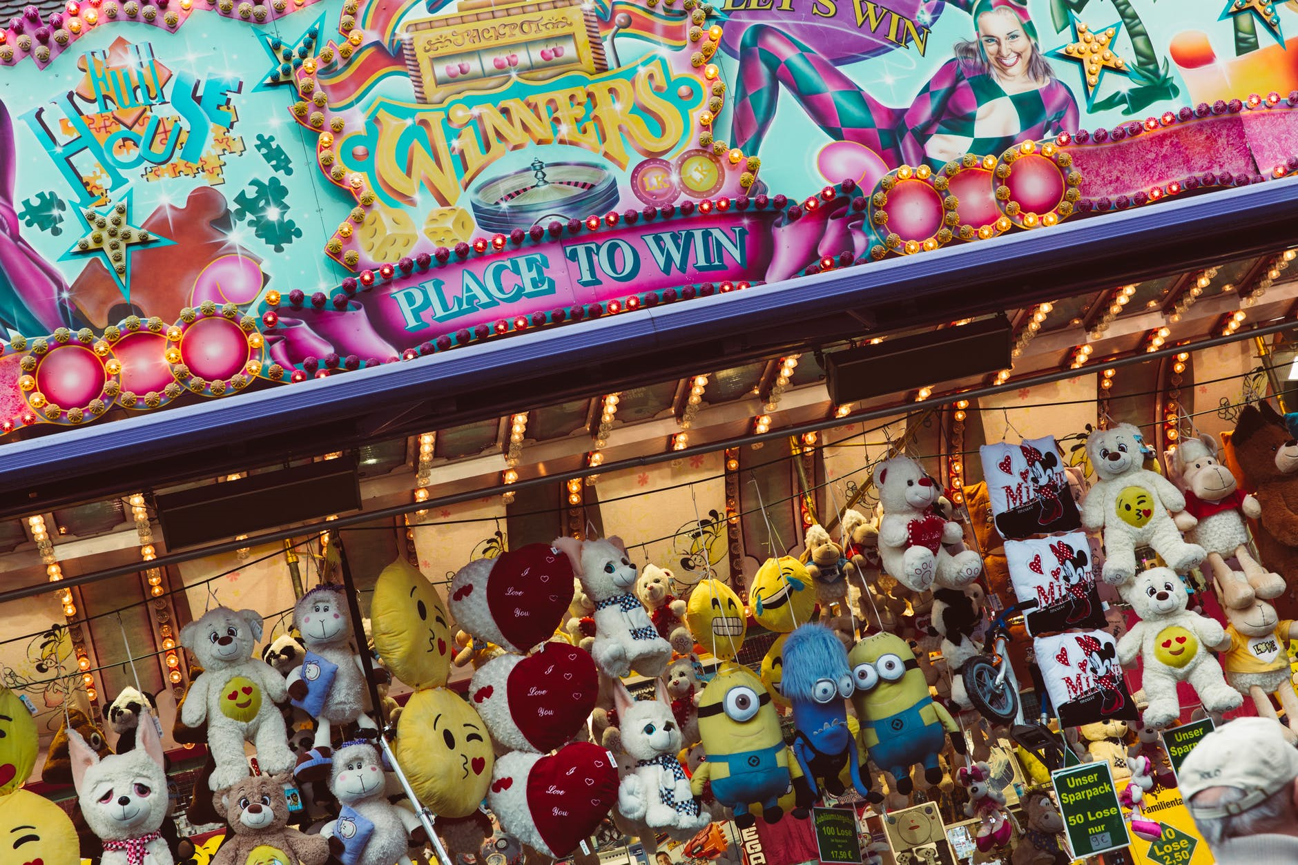 midway of a carnival with prizes