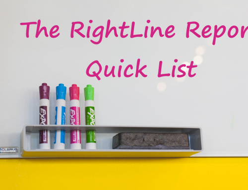 "How To Use The RightLine Report ""Quick List"""